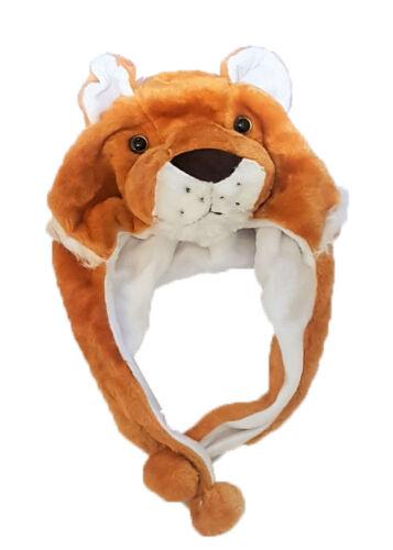 Kids Winter Animal Hat Boys Girls Ladies Warm Faux Fur Fluffy Unisex Xmas Gift