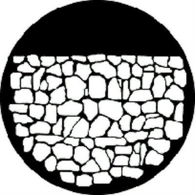 Musical Instruments & Gear Gobo Pattern Gam 246 Stone Wall A Size Steel Stage Lighting & Effects