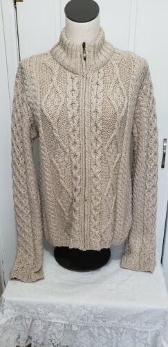 Inis Crafts Ladies Cableknit Sweater Medium 100%