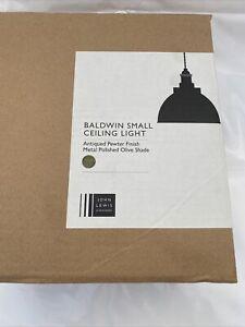 John Lewis & Partners Baldwin Pendant Ceiling Light, Gloss Olive