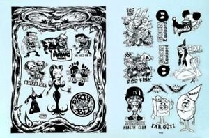 Kozik-Dirty-Donny-DECALS-Water-Slide-3-Sticker-Uncut-Roth-Like