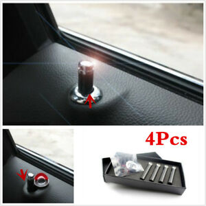 4X Universa Car Truck SUV Auto Interior Door Lock Knob Pins Real Carbon Fiber