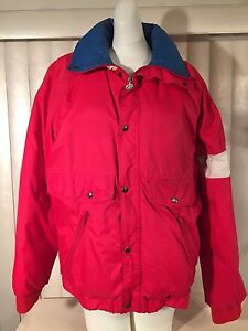 dc57b22bb Details about Vintage 1980s Womens Moncler Down Ski Jacket 2 Red White Blue  Puffy France 80s