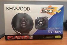 """Kenwood KFC-1095PS Pair of 4"""" Inch Car Audio Speakers 220 Watts Each 3-Way New"""