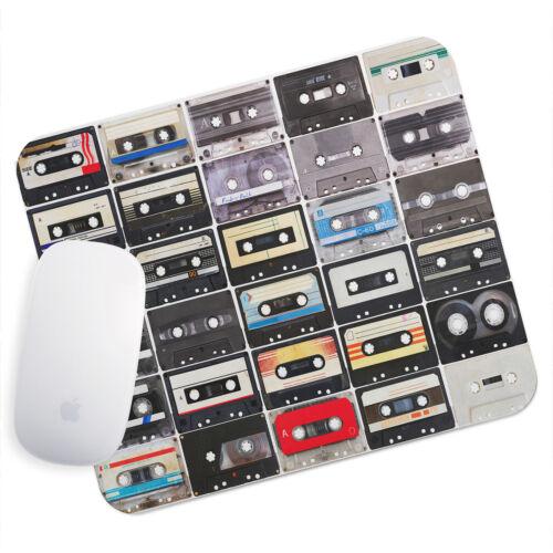 UK Seller Anti-Slip Gamimg Desk Mouse Pad Mat PC Laptop  Retro Cassette Cool
