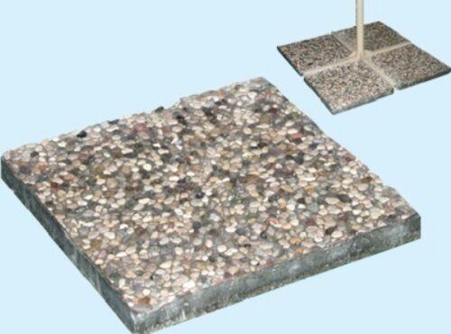 Base ombrellone laterale da giardino cemento con ghiaia kg 13 40 x 40 x h3 cm