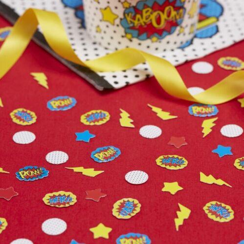 Bande dessinée Super héros Confettis Garçons Fête D/'Anniversaire POW BAM Deluxe Range Kids Vaisselle