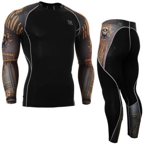 FIXGEAR CPD//P2L-B27 SET Compression Shirts /& Pants Skin-tight MMA Training Gym