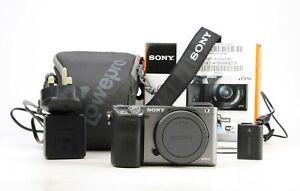 Sony A6000 Mirrorless solo corpo macchina e Mount + WIFI + 1,798 scatti-Boxed -