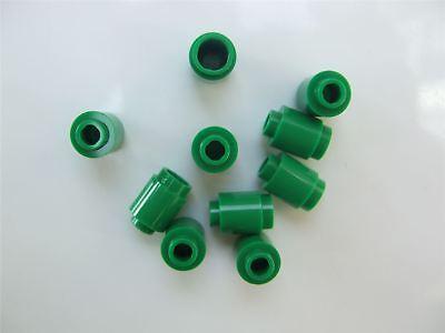 *NEW* 100 Pieces Lego 1x1 TRANS GREEN Round Brick 3062