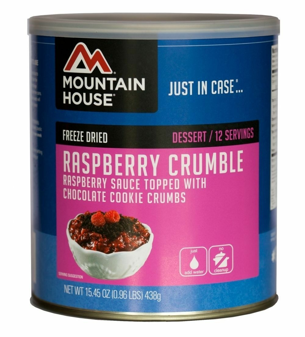 3 Cans - Raspberry Crumble - Mountain  House Freeze Dried Emergency Food Supply  best prices
