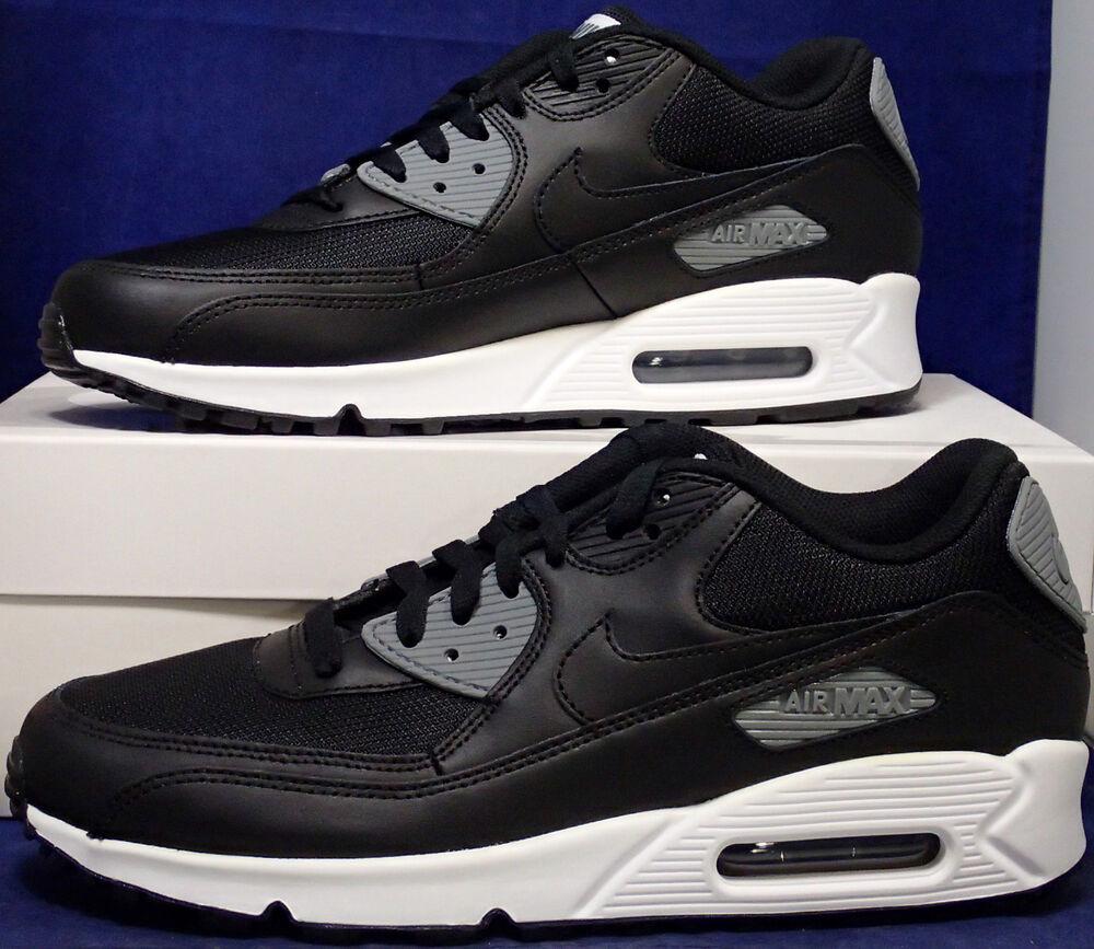 Nike Air Max 90 iD Noir BLANC Grey Homme  Chaussures de sport pour hommes et femmes