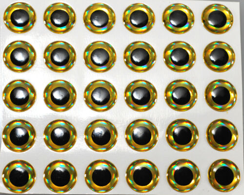 12mm  Fly Tying Lure Making 3D Self Adhesive Eyes jig flys  pike flies 40pcs