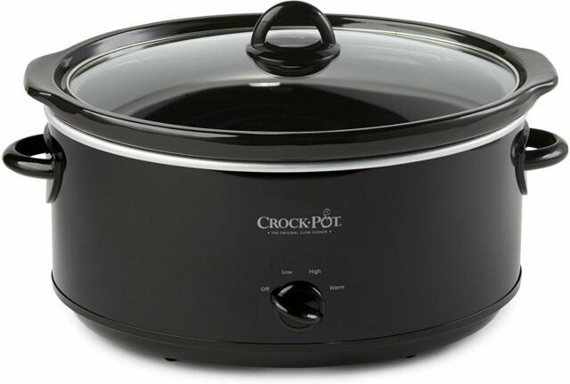 Crock-Pot SCV800-B 8-Quart Oval Manual Slow Cooker Black for sale online