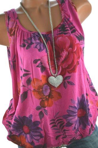ITALY Buntes Sommer TOP Hawaii Blumen Print Shirt Ballon Bluse 38 40 42 NEU