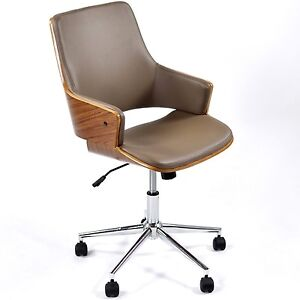Image Is Loading Executive Retro Office Chair Full Swivel High Back