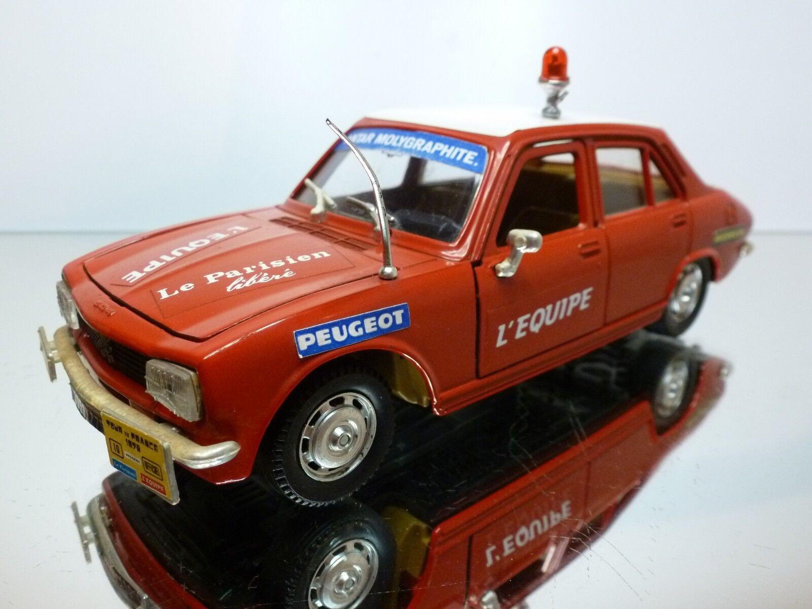 POLISTIL S48 PEUGEOT 504 GL L'EQUIPE TOUR DE FRANCE 1975 - rouge 1 26 - GOOD