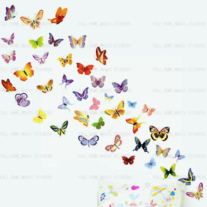 42 colourful butterflies wall stickers art decal wallpaper girls image is loading 42 colourful butterflies wall stickers art decal wallpaper voltagebd Image collections