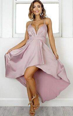BNWT Angel Biba Mocha Strappy Silky Maxi Cocktail Gown Dress 8 - LAST ONE, SALE!