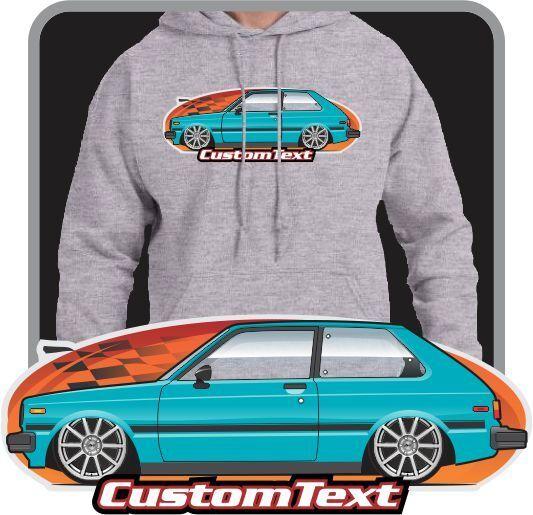 Custom Art Hoodie sweatshirt 1981 82 83 84 KP60 KP61 Toyota Starlet 1000 DX GL X