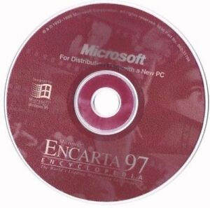 Microsoft-ENCARTA-97-Encyclopedia-CD-for-WINDOWS-95-w-COA-DISC-ONLY-57B