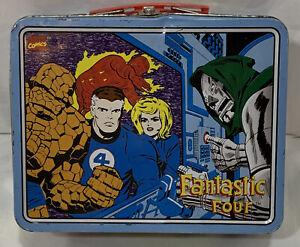 ORIGINAL-Vintage-1998-Marvel-Fantastic-Four-Doctor-Doom-Metal-Lunch-Box
