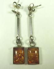 Bernstein Ohrringe 925 Sterling Silber silver amber earrings BoHo ==0 # N4