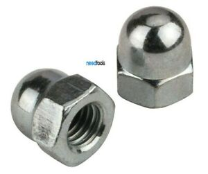 100-Pack-M8-Dome-Nuts-13AF-Chrome-Nickel-plated-Dome-Nut-8mm