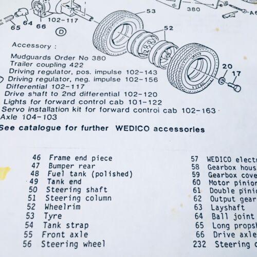 Wedico Part #53 Tyre//Tire 13R22.5 1:16 Scale