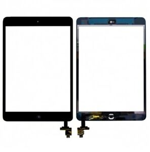 New Black iPad Mini 1 & 2 Glass Digitizer Touch Screen IC Chip Flex Assembly