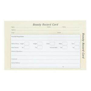 Quirepale Beauty Record Card