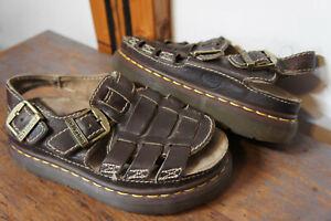 Mens Vintage Dr. Doc Marten 8092 Light Brown Leather Fisherman Arc Sandals Sz 6