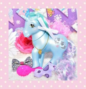 My-Little-Pony-MLP-Vtg-G1-Style-HQG1C-Unicorn-Puppy-Love-Dog-Custom-Pearl