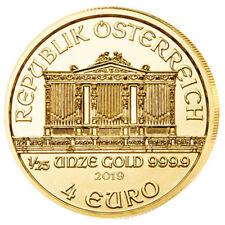 1/25 oz Gold Wiener Philharmoniker 2019 - 4 Euro Österreich Goldmünze 999,9
