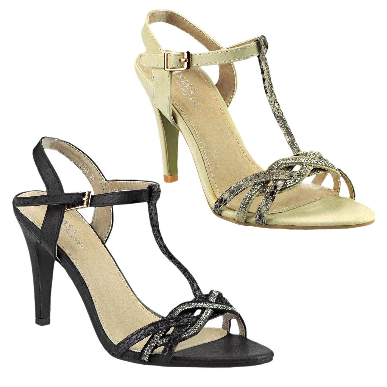 20034 SEXY SANDALO DONNA CINTURINO SANDALO col tacco alto scarpe donna PIETRINE