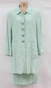 Jaeger-Mint-Bridal-Occasion-Suit-Jacket-amp-Skirt-Size-UK8-LOT-C6