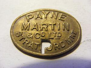 Payne Martin & Co Ltd Stratford Market One Shilling Token- nice condition - 21mm