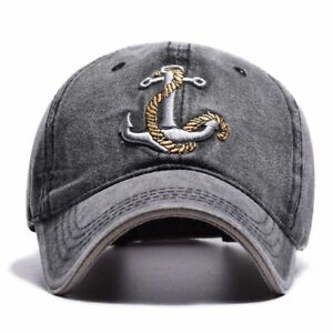 Adjustable Strap Baseball Cap Snapback Embroidery Anchor Caps For Men And Women