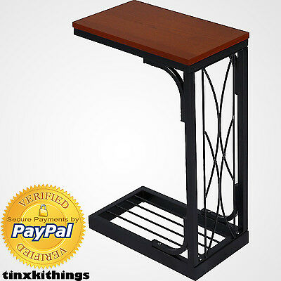 Living Room Tv Snack Tray Table Sofa Bed Side End Wood Top Furniture Heavy Duty 765050971723 Ebay