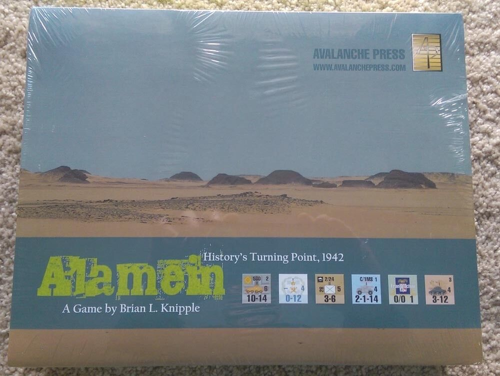 Avalanche Wargame Alamein  Shrink Wrap   Free Shipping