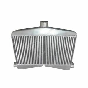 2-In-1-Out-Twin-Turbo-Bar-Plate-Intercooler-3-5-034-Core-Dual-2-5-Inlet