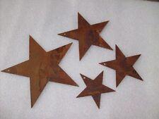 Sterne in Edelrost 4tlg. SET  VOLL-STERN zum Hängen Baumschmuck 5 zackig