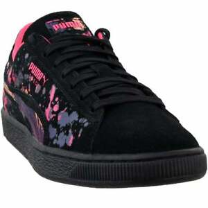 Puma-Suede-Classic-Tropical-Lace-Up-Mens-Sneakers-Shoes-Casual-Black