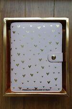 Kikki K Valentine's Day MET YOU Pink medium leather personal planner with BOX