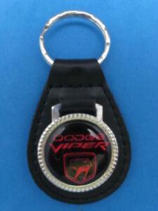 Dodge Viper Black Leather Key Chain