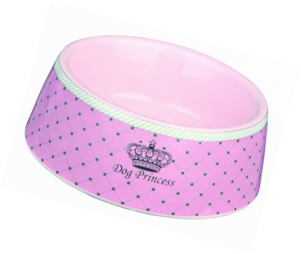 12 Cm Trixie Ceramic Bowls Dogs Dog Princess Ceramic Bowl Pink 0,18 L