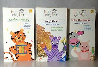 Baby Einstein VHS Tape Lot of 3 Numbers Baby MacDonald ...