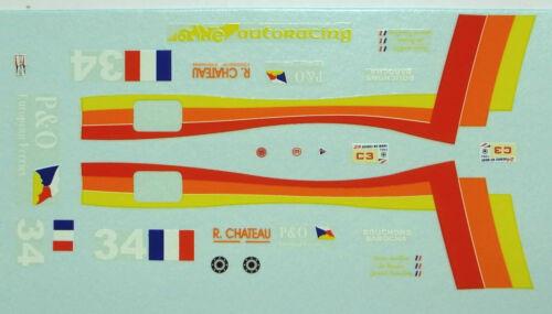 decals 1//43 Debora Le Mans 1994 N°34