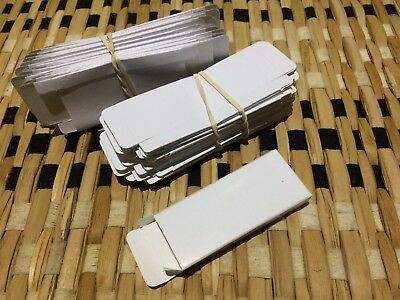 50 sleeves for Sunbox vending machine white glossy