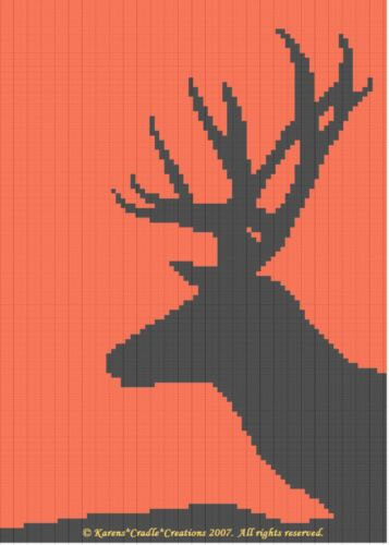 DEER SILHOUETTE pattern *BEGINNER* Crochet Patterns